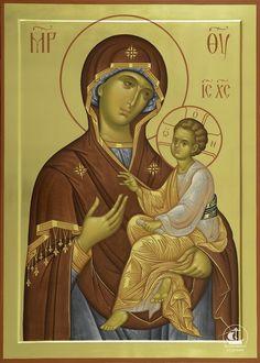 Byzantine Icons, Byzantine Art, Religious Icons, Religious Art, Russian Icons, Religious Paintings, Holy Mary, Madonna And Child, Art Icon