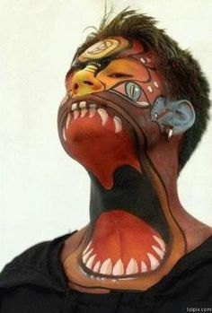 another twisted tattoo.... but could paint for halloween :) http://perrisautospeedway.com #autospeedway #speedway #attractions