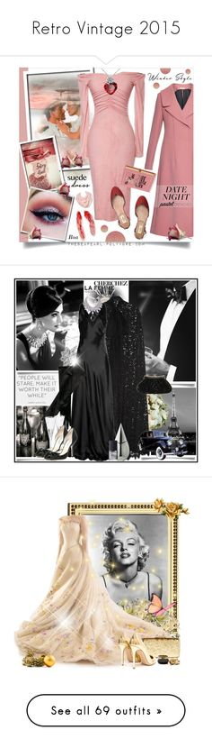"""""""Retro Vintage 2015"""" by yours-styling-best-friend ❤ liked on Polyvore featuring vintage, dress, retro, Marni, Eyeko, Valentino, Merona, Olympia Le-Tan, DateNight and valentinesday"""