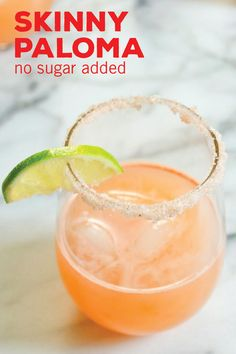 Skinny Paloma (no sugar added) We're sure that this Skinny Paloma recipe will deepen your love of refreshing, citrus cocktails. With all the flavors of your favorite margarita, see how this healthy mixed drink tastes so delicious without any sugar added! Healthy Mixed Drinks, Healthy Cocktails, Nutrition Drinks, Healthy Food, Popular Cocktails, Low Calorie Alcoholic Drinks, Low Carb Cocktails, Alcholic Drinks, Alcoholic Desserts