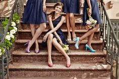 Bright shoes for a surprise detail on your bridal party!