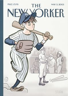 "The New Yorker - Monday, May 5, 2003 - Issue # 4027 - Vol. 79 - N° 10 - Cover ""The New Left Fielder"" by James Sturm"
