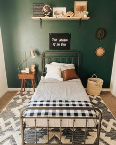 room makeover for kids Mama always knows whats best Green is the winner! Josh got B on board by saying dude, itll feel like youre in the forest he was Bedroom Green, Bedroom Wall, Teen Bedroom, Green Kids Rooms, Big Boy Bedrooms, Boy Rooms, Deco Studio, Toddler Rooms, Boy Toddler Bedroom