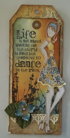 Dance in the rain-Julie Nutting stamp