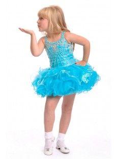 Blue A Line Girls Pageant Dress