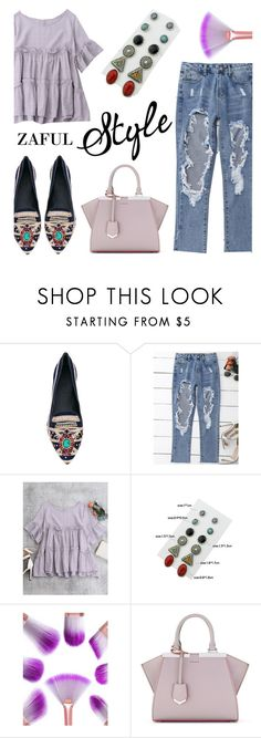 """Zaful"" by helenevlacho ❤ liked on Polyvore featuring Akhal Tekè, Fendi and zaful"