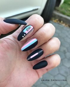 Try some of these designs and give your nails a quick makeover, gallery of unique nail art designs for any season. The best images and creative ideas for your nails. Stiletto Nail Art, Matte Nails, Diy Nails, Gel Manicure, Coffin Nails, Pink Coffin, Manicure Ideas, Almond Nail Art, Almond Nails