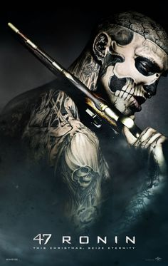 47 Ronin stars Keanu Reeves and the superstar is wielding a Samurai sword for the first time. 47 Ronin has released four posters from the. Rick Genest, Frases Samurai, 47 Ronin Movie, Keanu Reeves 47 Ronin, Ronin Samurai, Ronin 2, Tattoo Gallery, 3d Fantasy, Fantasy Samurai