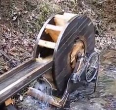 Homemade Water Wheel Generator