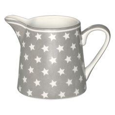 GreenGate Stoneware Creamer Star Warm Grey H 8 cm   NEW! Autumn/Winter 2014   Originated-Webshop