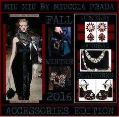 Miu Miu Fall/Winter 2016 - The Accessories Edition  www.toyastales.blogspot.com