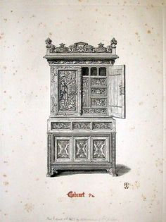 Pugin: Gothic Furniture in the Style of the 15th Century London: 1835 http://special.lib.gla.ac.uk/teach/gothic/cabinet.html