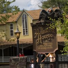 My absolute favorite haunted house ride ever, at Knoebels in Pennsylvania
