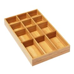 """Bamboo Tray -- has such a small footprint, it can fit into most of the smallest bathroom drawers.  11-1/2"""" x 6-7/8"""" x 1-1/2"""" h"""