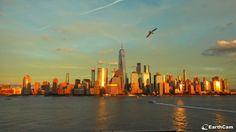 NYC o zachodzie słońca 16.10.2017 New York Skyline, Nyc, Travel, Viajes, Destinations, Traveling, Trips, New York