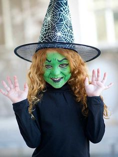 halloween kids face paint tutorial witch - How To Look Like A Witch For Halloween
