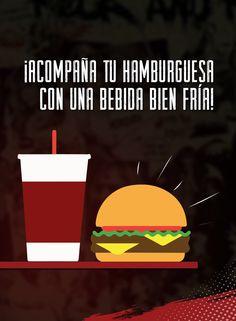 ¡No hay nada mejor que acompañar nuestras magnificas hamburguesas con una bebida bien fría! Déjate deleitar por la frescura y el sabor de todos nuestros platillos ¡Te esperamos!