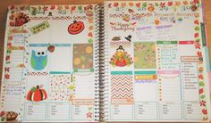 eye-candi.net: Updated Tour of My Erin Condren Life Planner - November 2014 This is how I decorated the week of Thanksgiving :)