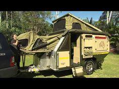 UEV 490 off-road camper trailer. Nice off road trailer for when SHTF Bug Out Trailer, Off Road Camper Trailer, Camper Trailers, Camping Survival, Camping Gear, Outdoor Camping, Outdoor Gear, Survival Mode, Camping Hacks