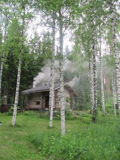 Savusauna & grillikota / Smoke sauna & Grill hut Grill Hut, Finnish Sauna, Saunas, Log Cabins, Night Skies, Finland, House Ideas, Outdoor Structures, Smoke
