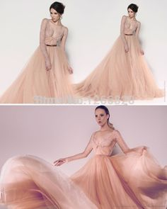 Find More Evening Dresses Information about 2014 new Charming Deep V Neck Lace Beaded Long Sleeves See Through Evening Dresses with Belt Custom Made,High Quality Evening Dresses from Sao Tome Garments Co., Ltd. on Aliexpress.com