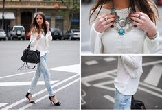 acid wash jeans + native american jewelry.. perf.
