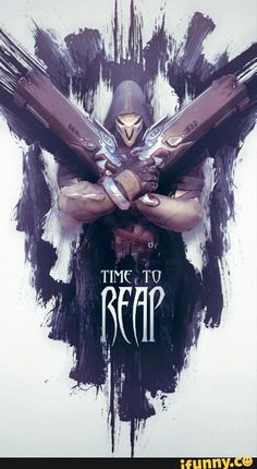 overwatch Reaper poster | Time to reap | overwatch fan art | drawing painting | gamer posters | #overwatchPoster #reaperArt