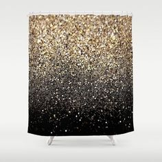 Black & Gold Sparkle Shower Curtain by Luxe Glam Decor - $68.00