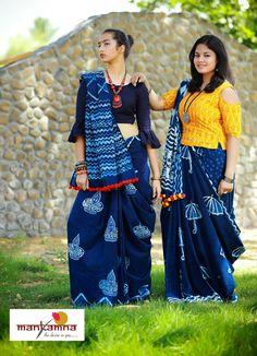 How to Select the Best Modern Saree for You? Simple Sarees, Trendy Sarees, Saree Blouse Designs, Blouse Patterns, Dress Designs, Indigo Saree, Silk Anarkali Suits, Modern Saree, Elegant Saree