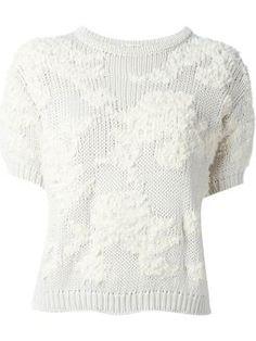 chunky shortsleeved knit jumper
