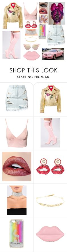 """""""Gucci Lips"""" by divinemaboundou ❤ liked on Polyvore featuring Versus, Gucci, Dark Pink, Marc Jacobs, Lulu Guinness, Paris Hilton and Jimmy Choo"""