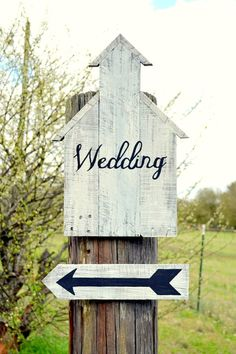Vintage Wedding Sign, Wedding Name Sign, Rustic Wedding Sign, Custom Wedding Signs, Arrow Wedding Sign, Shabby Chic Wedding, Initials. $75.00, via Etsy.