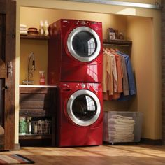 Might be nice for the Laundry Closet, to have the machines on top of one another, get more space for shelves, etc