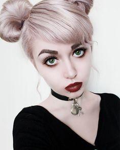 ゴスロリ平行太眉♥Gothic Lolita power brows kawaii makeup ...