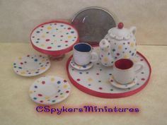 Half Scale Dollhouse Miniature food set by by CSpykersMiniatures, $18.00  http://www.etsy.com/shop/CSpykersMiniatures