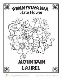USAPrintables Pennsylvania State Stamp US States Coloring
