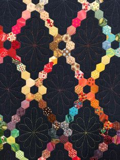 Hexagon quilt by quilter and AQS author Julia Wood, featured on Quilting Arts TV Series 1600. #QATV