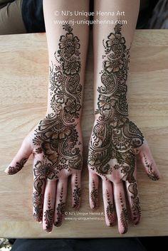 Unique henna art