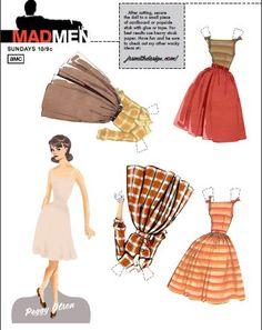 (⑅ ॣ•͈ᴗ•͈ ॣ)                                                            ✄Paper Dolls Peggy Mad Men