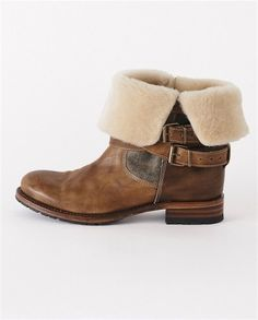 Shearling Ankle Boot by poetryfashion these boots remind me of my good friend Porter.