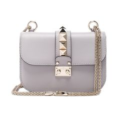 Valentino Small Lock Shoulder Bag (57 260 UAH) ❤ liked on Polyvore featuring bags, handbags, shoulder bags, locking purse, man bag, chain shoulder bag, purse shoulder bag and valentino handbags
