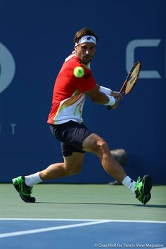 Spain's David Ferrer during the 2014 US OPEN