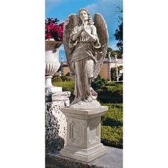 Design Toscano Grand Basilica Praying Angel Garden Statue - Statue Only - NE90055, Durable