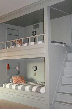Neat space saver bunk beds