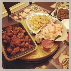 I ate too much #food on #Christmas  #seafood #shrimp #friedshrimp #chicken #stuffedmushrooms #mushrooms #eggs #deviledeggs #family #cooking #recipe #kitchen #home #friends #dinner #holiday #ChristmasEve #desserts #coffee #music #lobster #pasta #meat #fun #winter #snow #eating #country