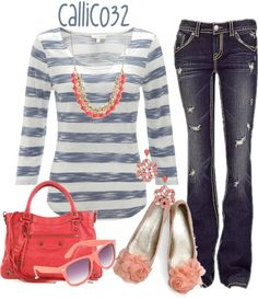 """""""Coral"""" by callico32 on Polyvore"""