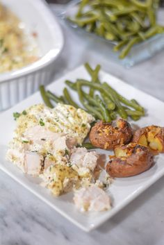 Sour Cream Chicken is simple and delicious chicken dish! Boneless chicken breast is covered in a seasoned sour cream mix and baked in the oven. Chicken Bacon Ranch Bake, Easy Baked Chicken, Baked Chicken Recipes, Cheesey Chicken, Meat Recipes, Salad Recipes, Chicken Dishes For Dinner, Dinner Dishes, Cream Sauce For Chicken