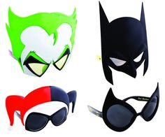 BLOG DOS BRINQUEDOS: Batman Sunstaches Sunglasses