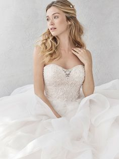 Ella Rosa Style BE361 | beaded bodice with flowy skirt | romantic wedding dress | bridal gown