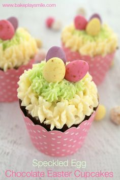 Speckled Egg Chocolate Easter Cupcakes